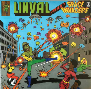 V/A -  Linval Presents Space Invaders  (LP) (VG-EX/VG-)